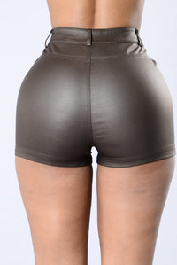 Irresistibly Hot Shorts - Brown