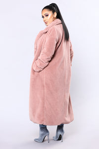 Chibi Fur Jacket - Dusty Rose Angle 4