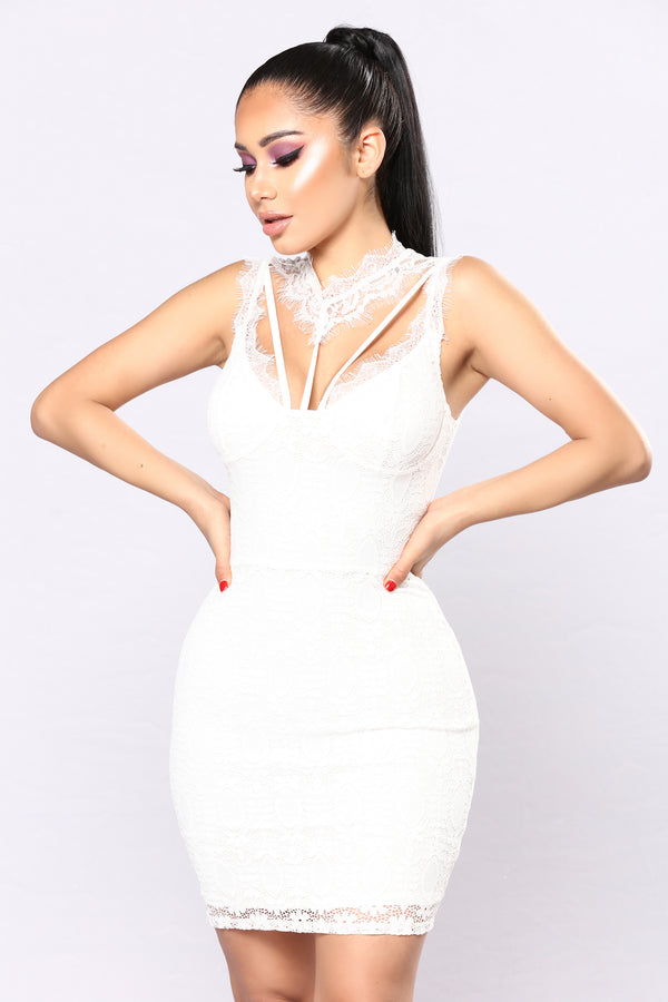 80890bacd07 Without A Doubt Lace Dress - White