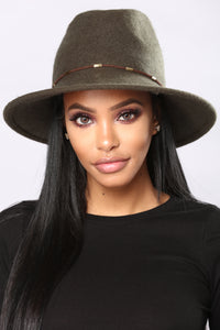 Hip Horay Fedora Hat - Olive