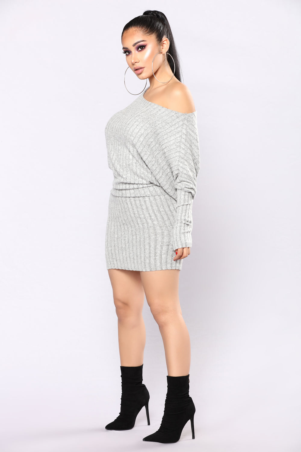 Staci Sweater Dress - Heather Grey