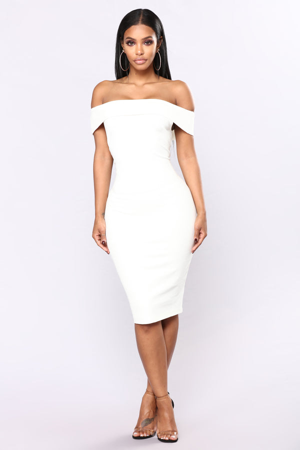 93f42ccb09dc Chantal Off Shoulder Dress - White