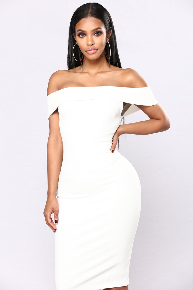 05f26ba7d8cd Chantal Off Shoulder Dress - White