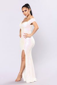 Speechless Sequin Dress - White