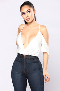 Made You Look Bodysuit - White Angle 1
