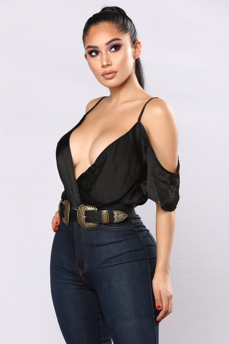 Made You Look Bodysuit - Black
