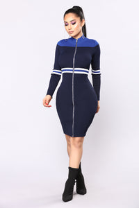 Richton Zipper Dress - Navy