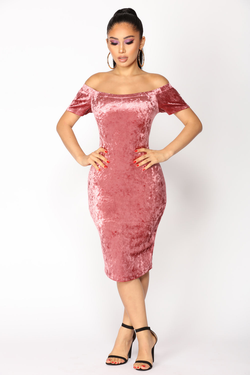 Pink Velvet Dress Fashion Nova