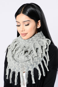 Seems Like Forever Infinity Scarf - Grey