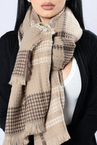 Keep Things Casual Blanket Scarf - Khaki