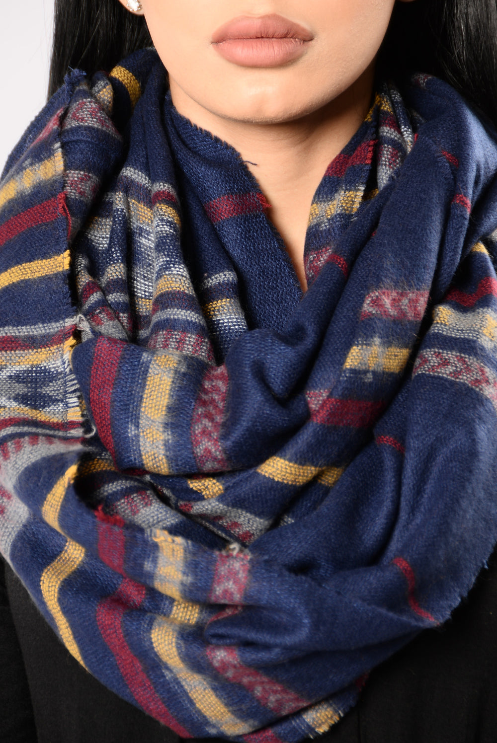 Cold Desert Night Infinity Scarf - Blue