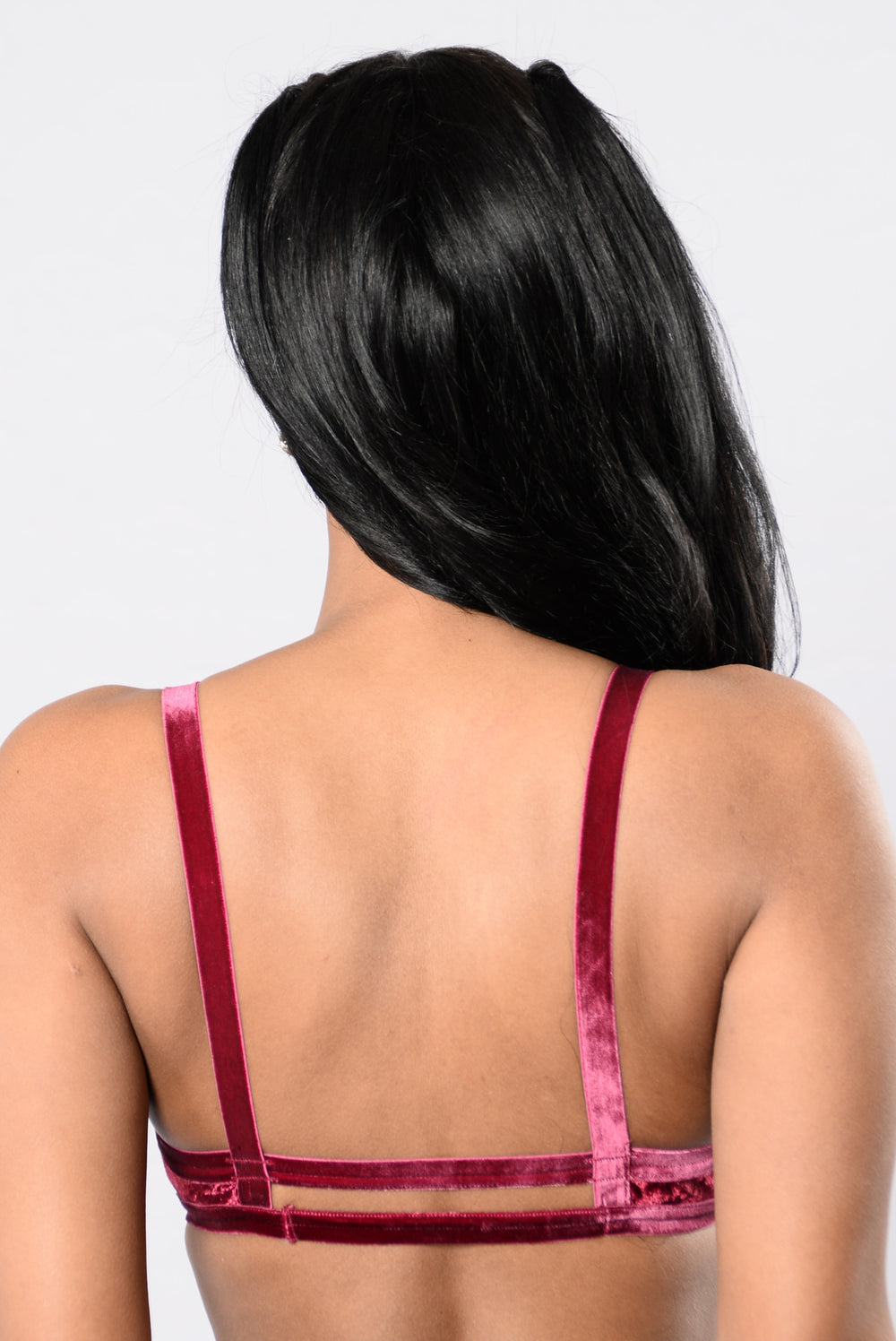 Velvety Smooth Bralette - Burgundy