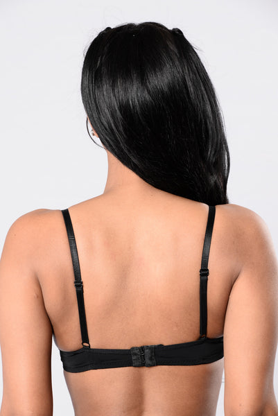 Strapped In Bra - Black