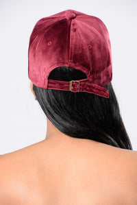 Run The Game Cap - Burgundy