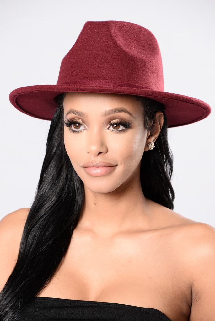 Mystery Date Hat - Burgundy