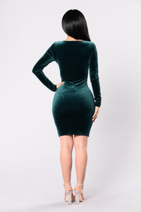 We Found Love Dress - Emerald