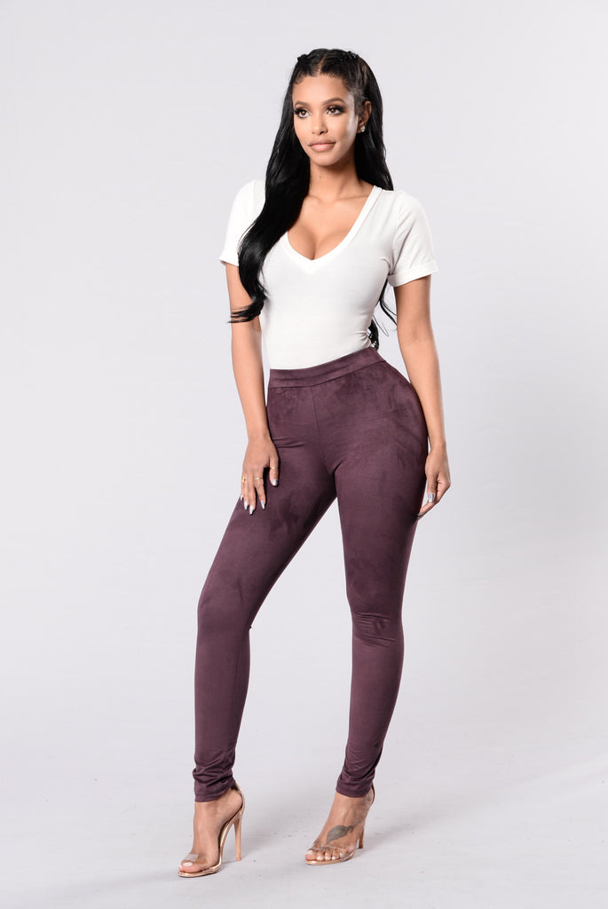 Uncomplicated Leggings - Plum