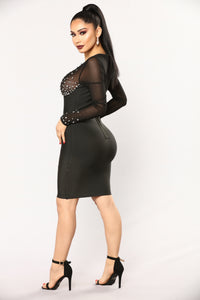 Sprinkled With Shine Dress - Black