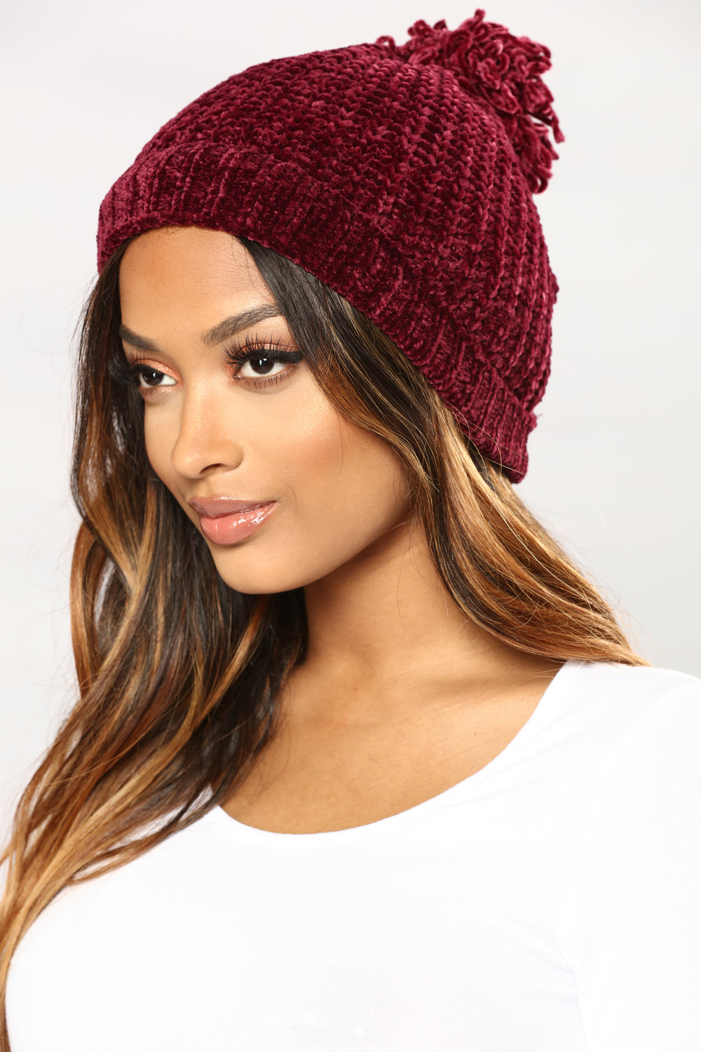 Maybe Some Other Time Beanie - Burgundy