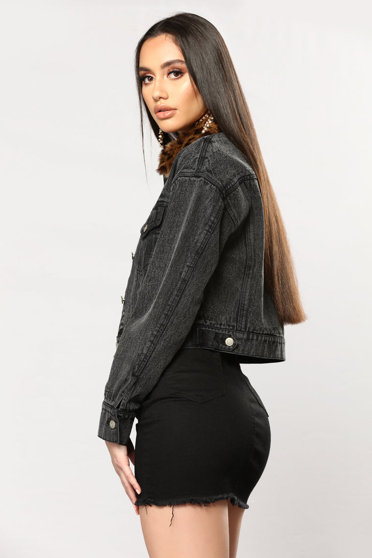 City Vibes Denim Jacket - Black