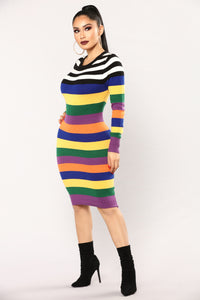 See The Rainbow Midi Dress - Rainbow