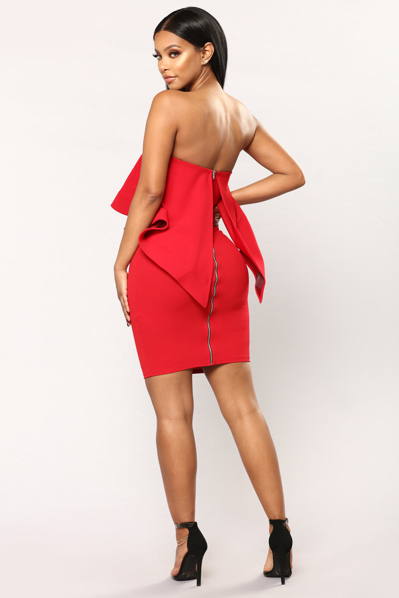 Flounce House Dress - Red