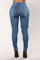 Pure Love Skinny Jeans - Medium Blue Wash