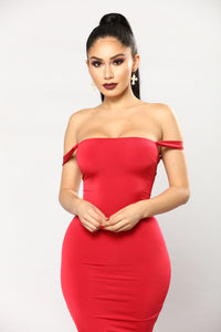 Framed Lace Up Dress - Red Angle 4