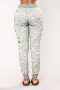 Be My Lover Lounge Joggers - Marled Charcoal