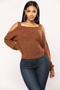 Right By My Side Sweater - Bronze