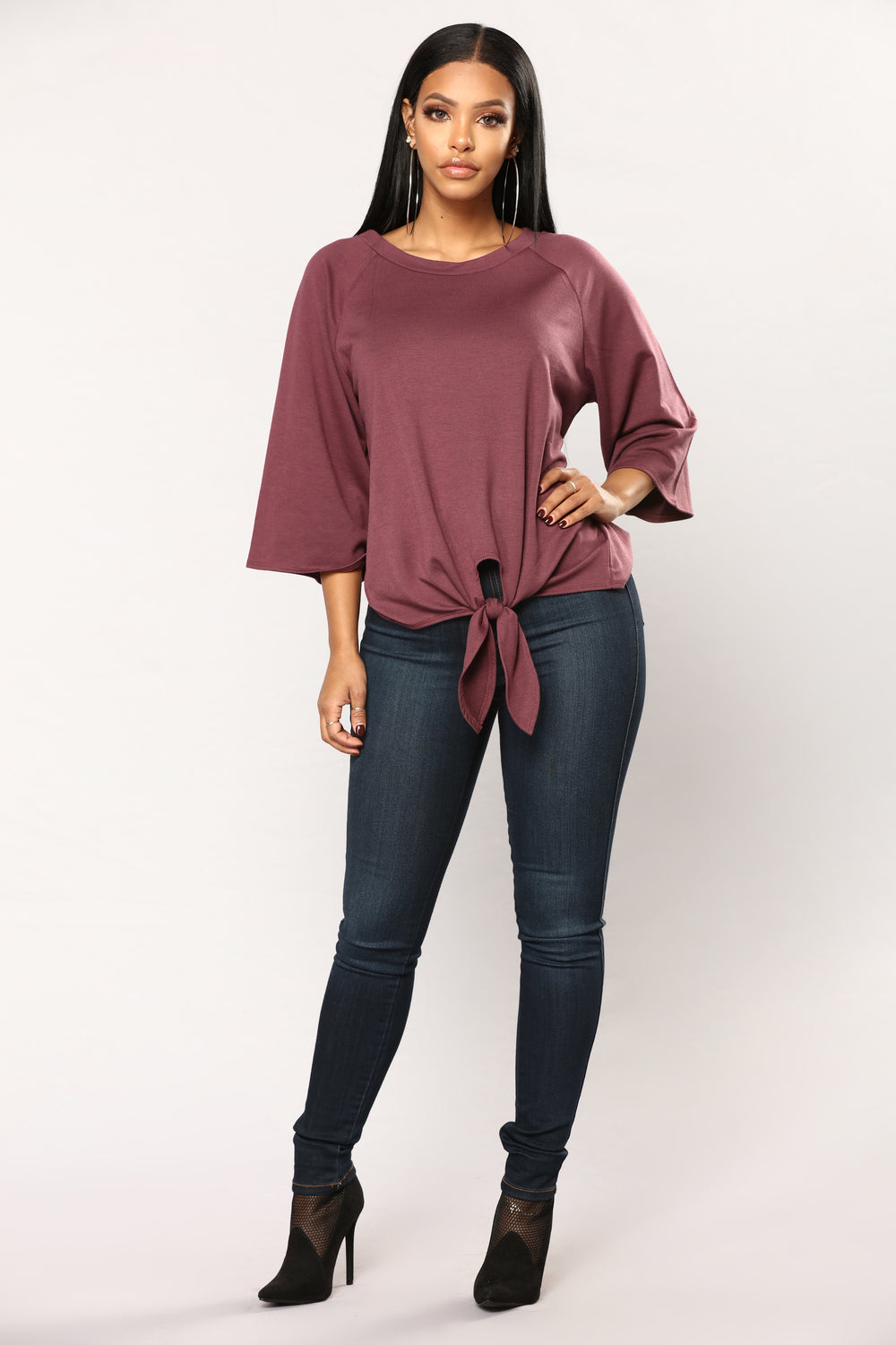 Tying The Knot Top - Marsala