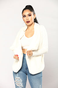 Furever And Ever Faux Fur Vest - Ivory