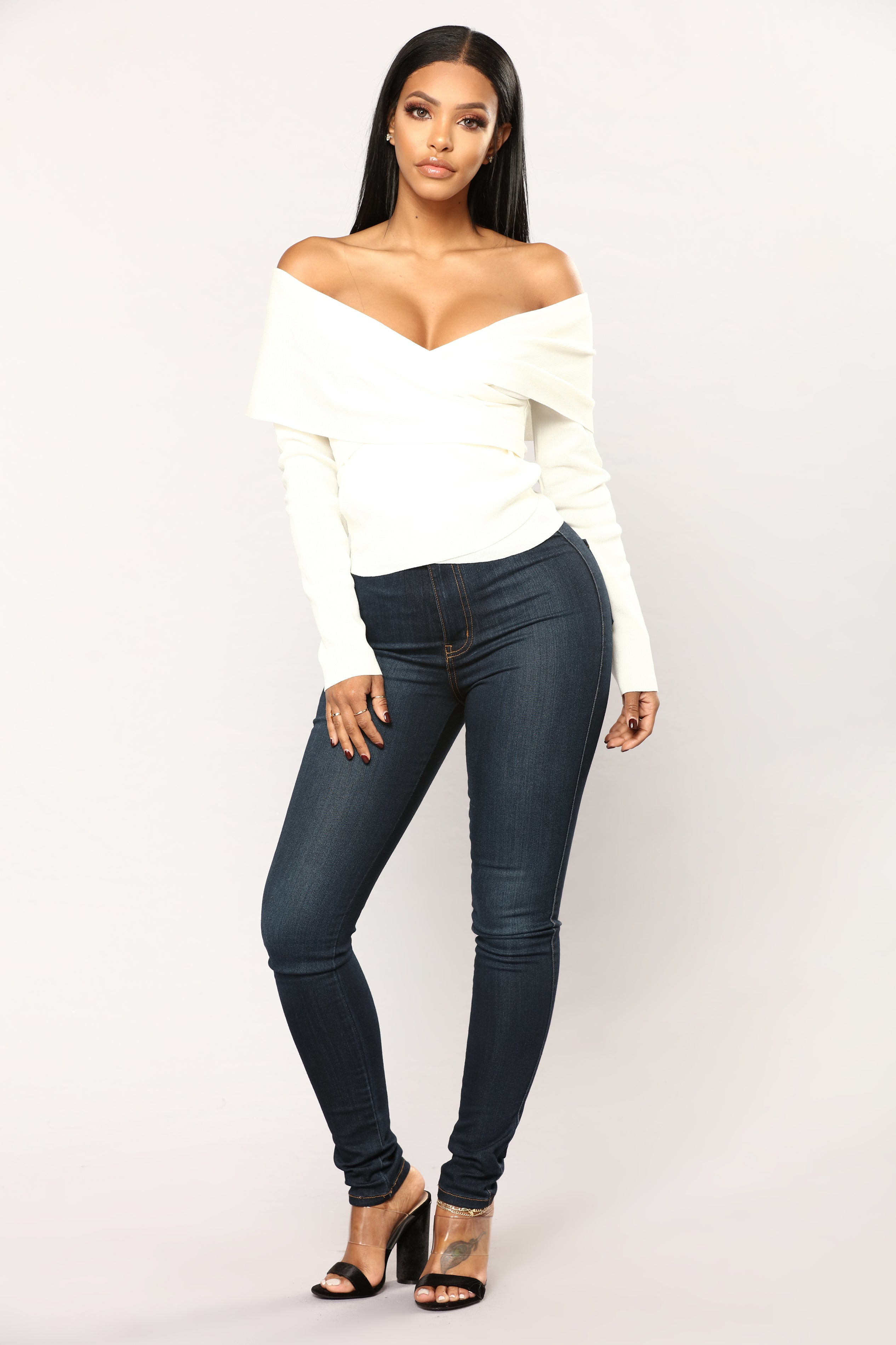 Alison Off The Shoulder Sweater Ivory