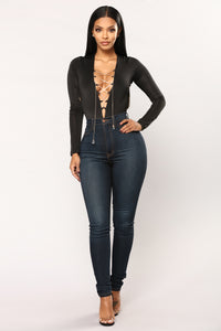 Crystal Clear Bodysuit - Black