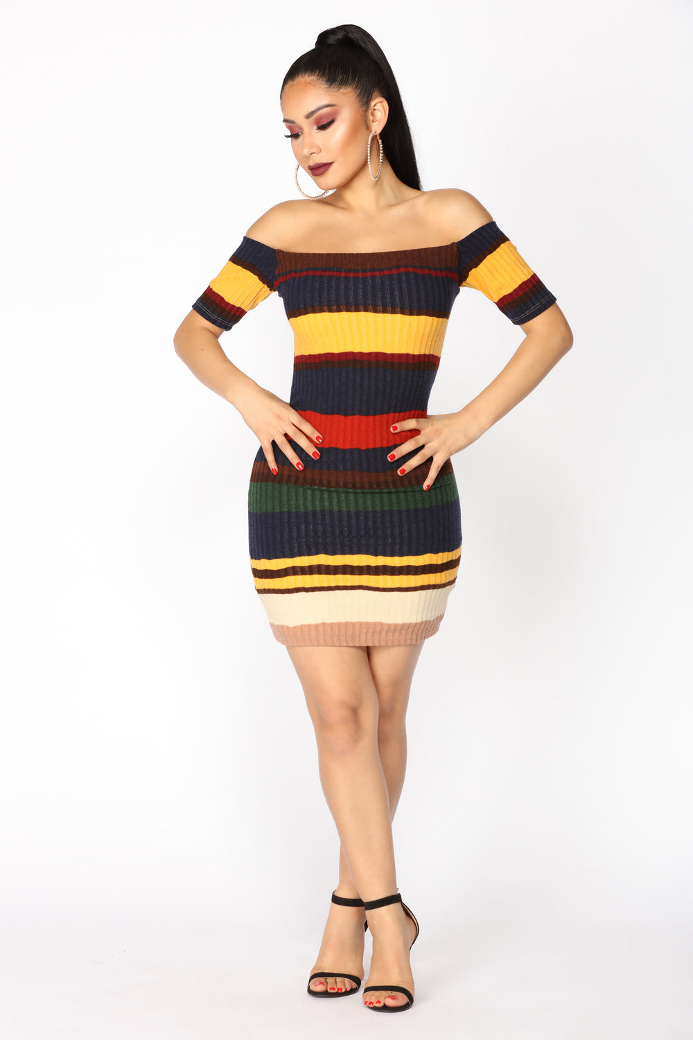 Color Blocked Mini Dress - Multi