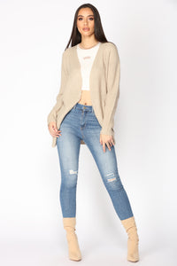 Reserved For You Cardigan - Taupe