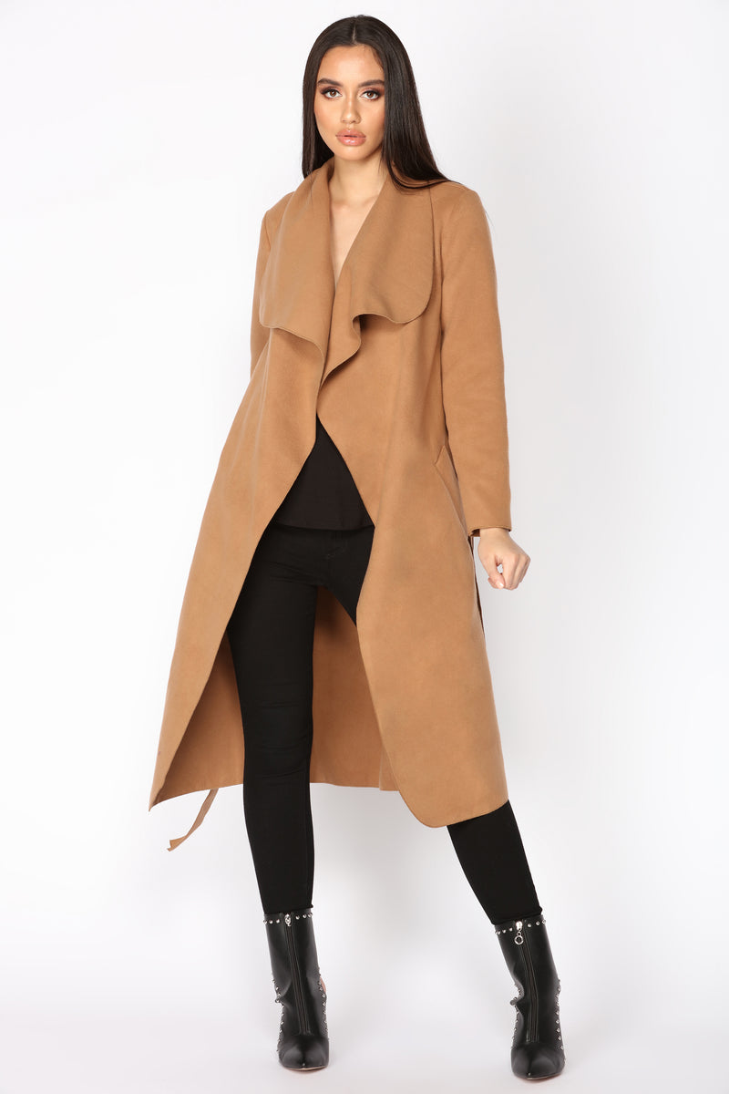 Big City Girl Coat - Taupe