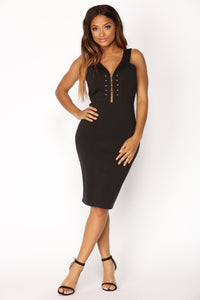 Beat Of My Drum Dress - Black