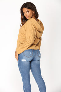 Clare Lace Up Sweatshirt - Mustard