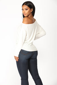 Come Together Front Tie Top - Ivory