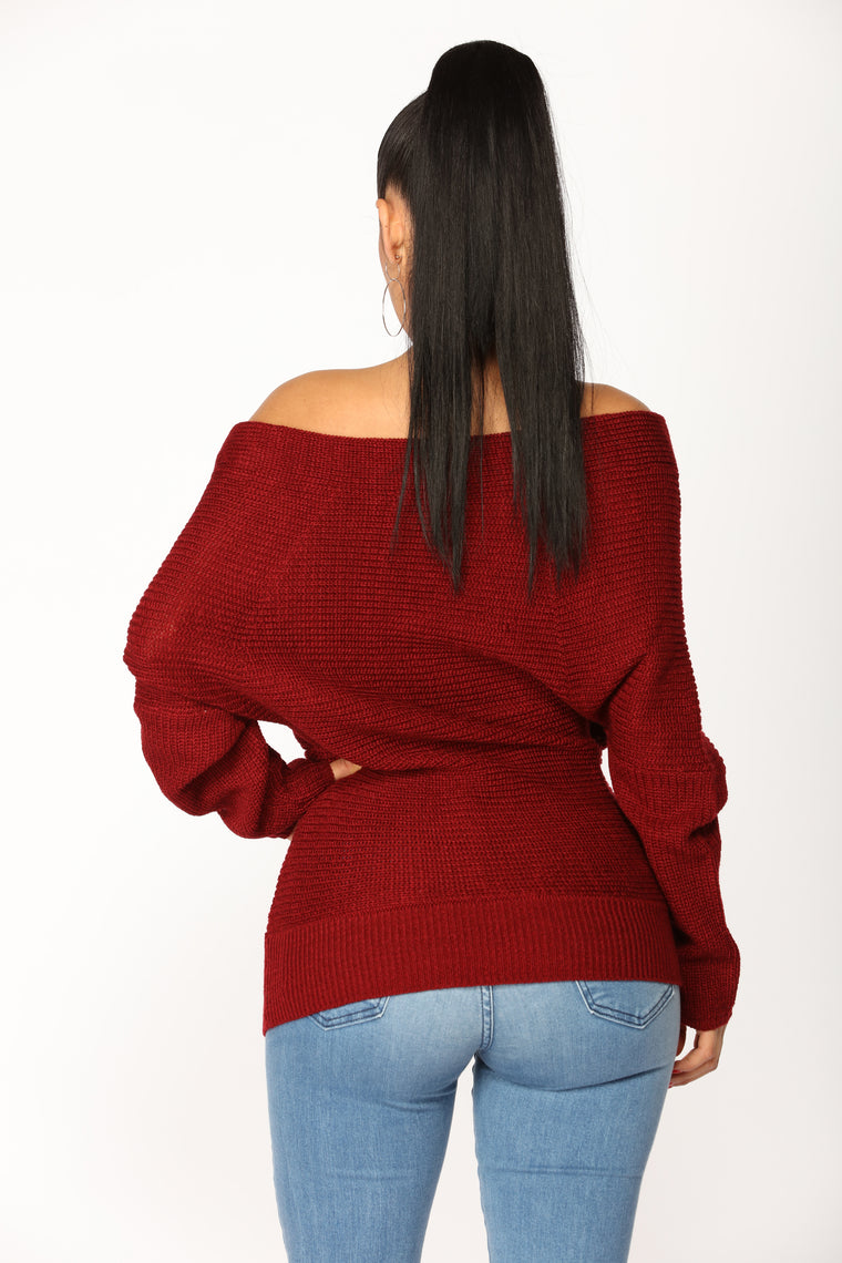Everything Has Changed Sweater - Burgundy