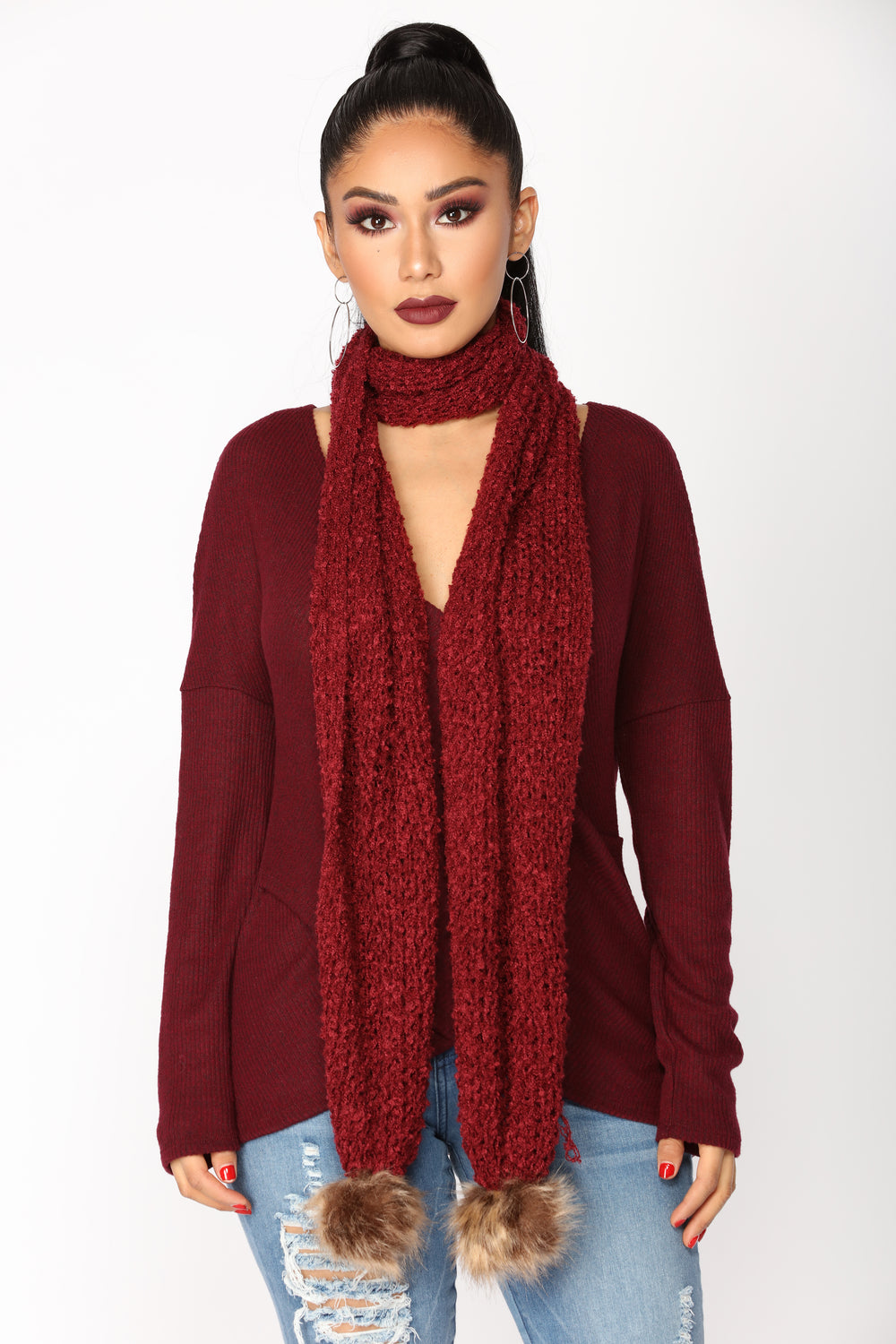 Always Passionate Scarf - Burgundy