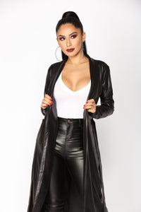 Ready For Anything Coated Jacket - Black