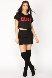 Always Your Babe Tee - Black