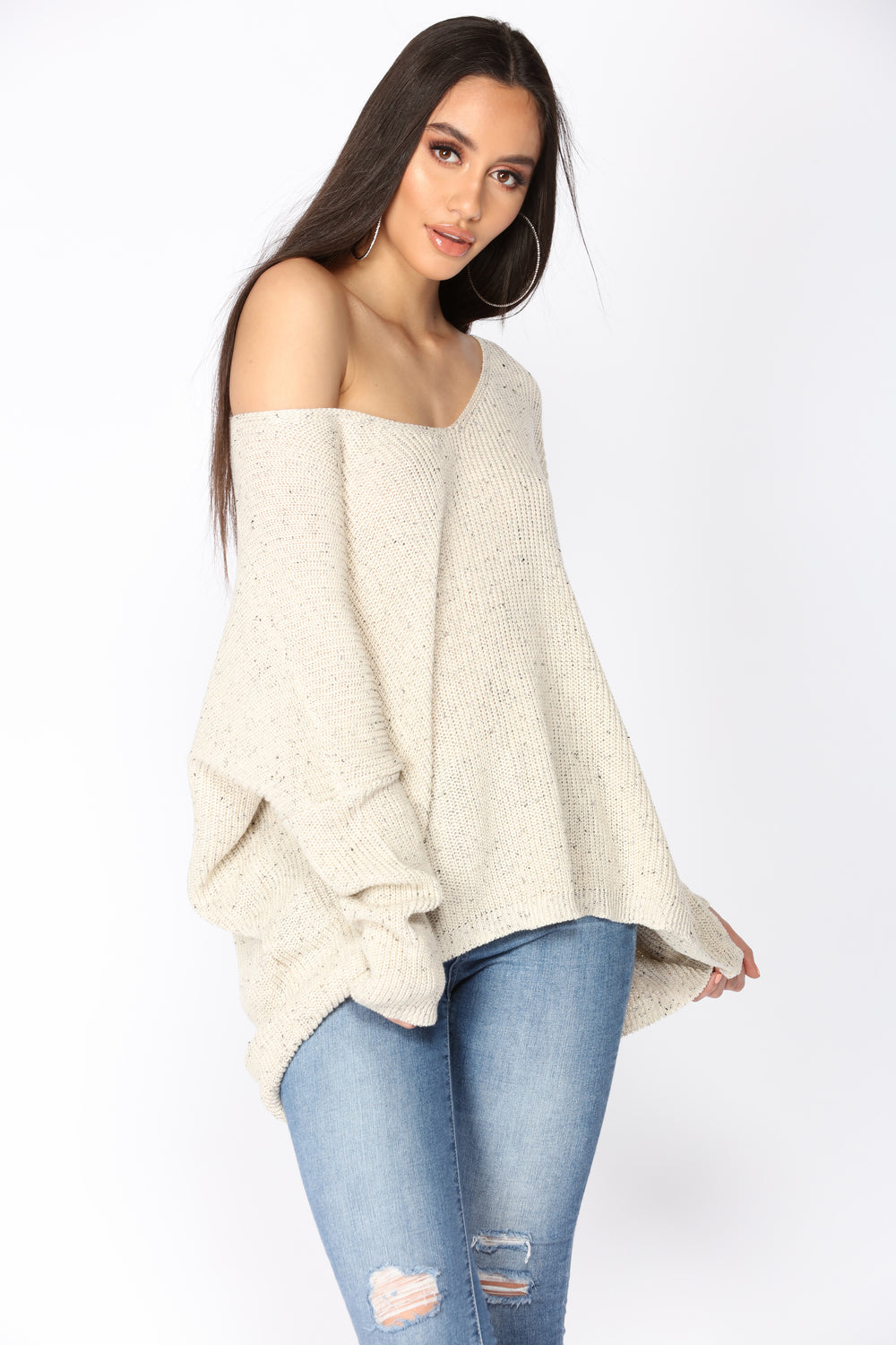 Hold Tighter Long Sleeve Sweater - Ivory