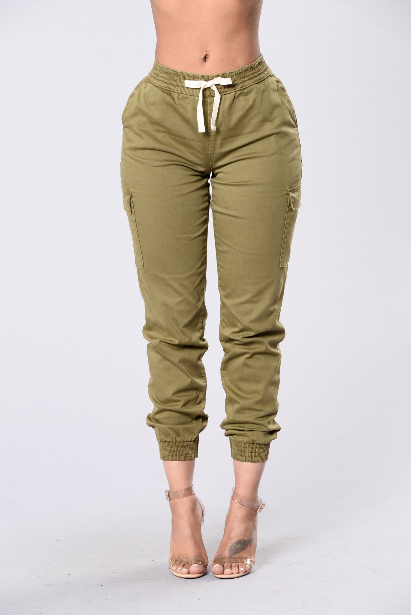 b1d614837e6 Gotta Keep Going Joggers - Olive