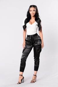 Paper Doll Pants - Black Angle 2