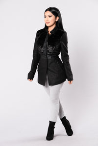 Go With The Faux Coat - Black