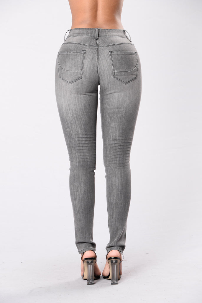 Speeding For Your Love Jeans - Grey