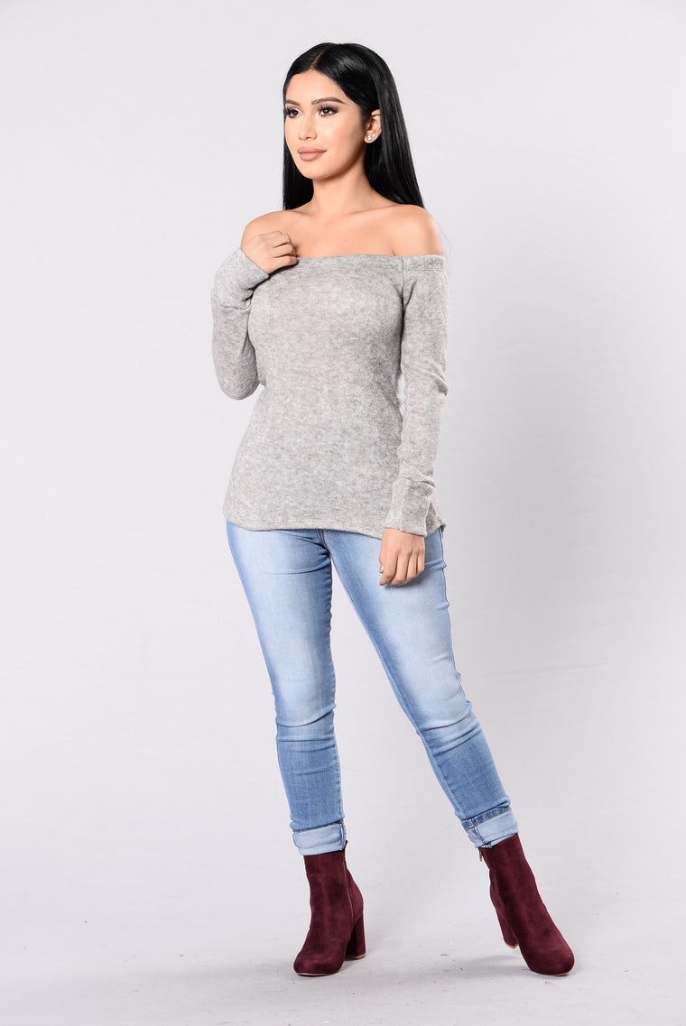 River Lea Top - Heather Grey